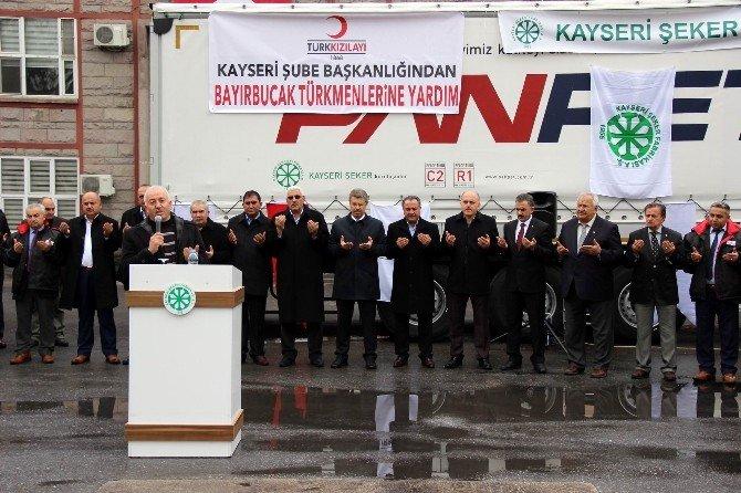Kayseri Şeker'den Bayırbucak Türkmenleri'ne 2 Tır Yardım