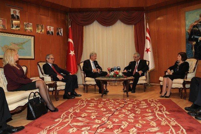 KKTC Başbakanı Kalyoncu, Bozkır'ı Kabul Etti