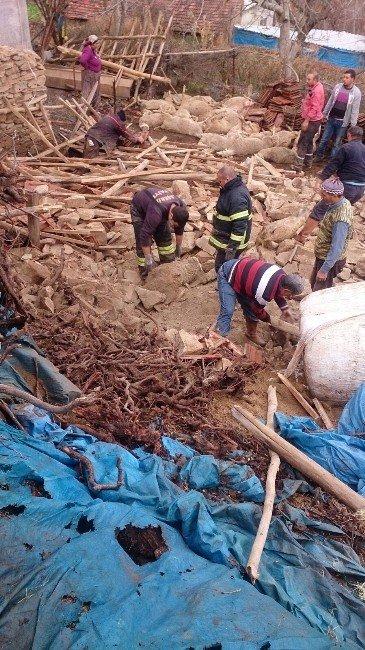 Manisa'da Şiddetli Yağmur Koyunları Telef Etti