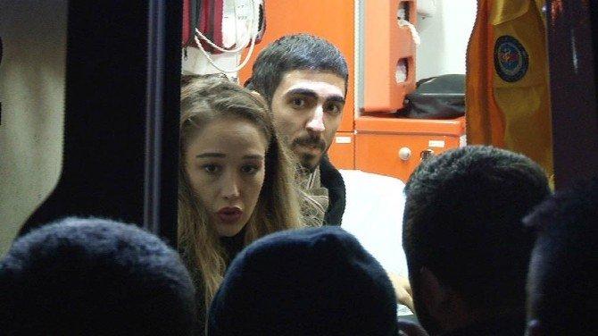 Genç Kız Takla Atan Arabadan Burnu Bile Kanamadan Çıktı