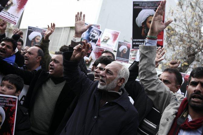 Atina'daki Şiilerden idam protestosu