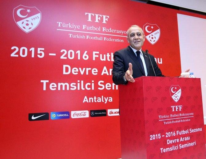 TFF Temsilci Semineri devam ediyor