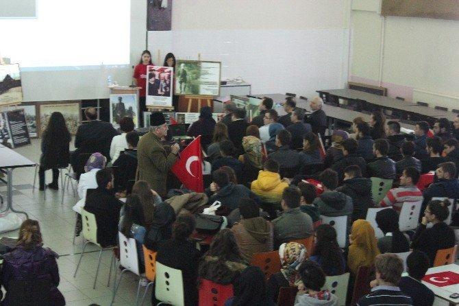 En Yaşlı Çanakkale Gazisinin Oğlu Kaynaşlı MYO'da Konferans Verdi