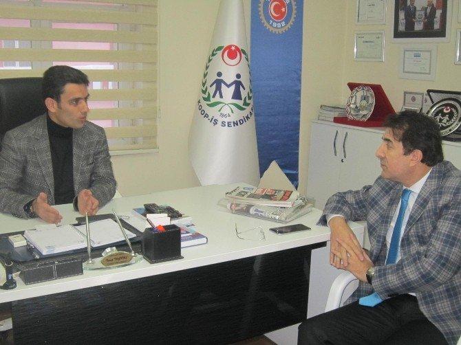 Erzurum AK Parti Milletvekili İbrahim Aydemir, Koop-iş Sendikası'nı Ziyaret Etti