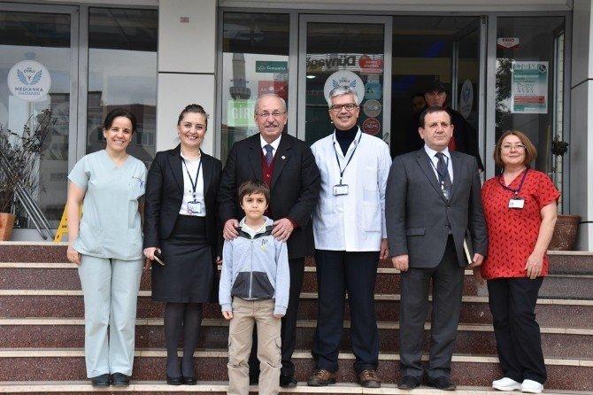 Başkan Albayrak'ın Fabrika Ve Hastane Ziyaretleri