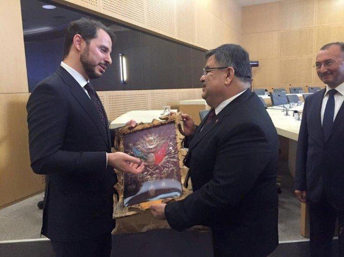 Belediye Başkanı Selim Yağcı, Enerji Bakanı Berat Albayrak İle Bir Araya Geldi