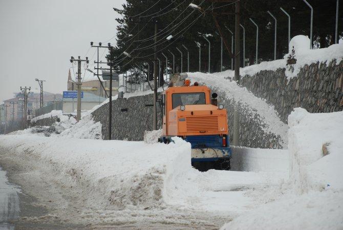 Bitlis'te karla mücadele devam ediyor