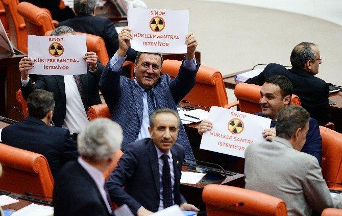 CHP'li Vekillerden Nükleer Santral Protestosu