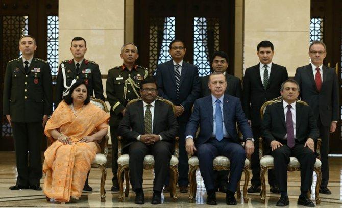 Kolombiya, Bangladeş ve Svaziland büyükelçileri güven mektubu sundu