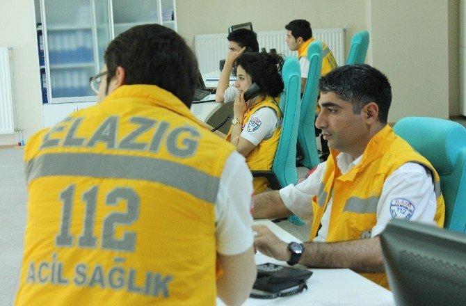 Elazığ'da Ambulanslar 1 Yılda 42 Bin 500 Hasta Taşıdı