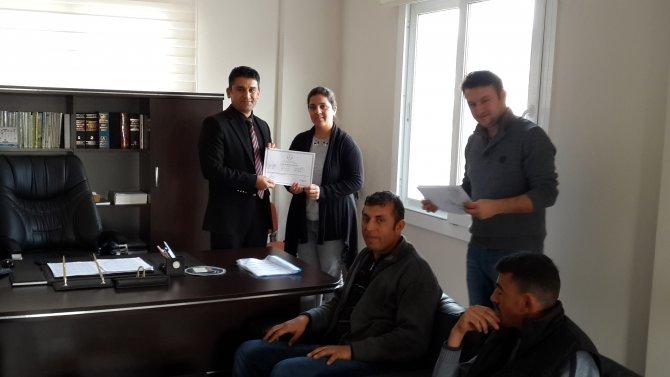Hatay'da 23 kişi sürü yönetimi sertifikasını aldı
