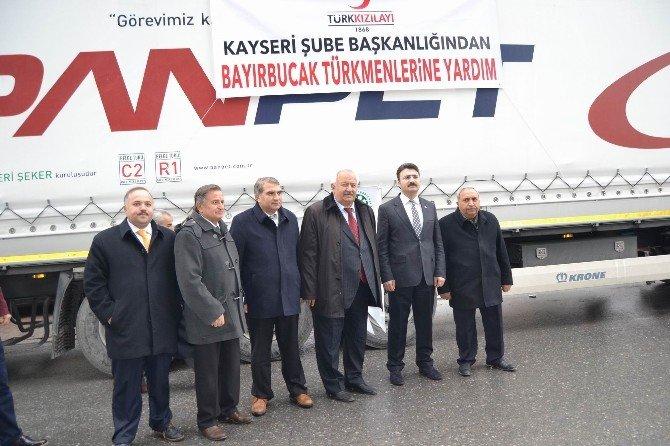 Bayırbucak Türkmenlerine 4 Tır Dolusu Yardım Gönderildi