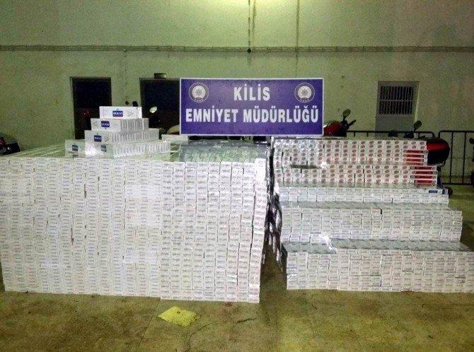 Kilis'te 68 Bin Paket Kaçak Sigara Ele Geçirildi