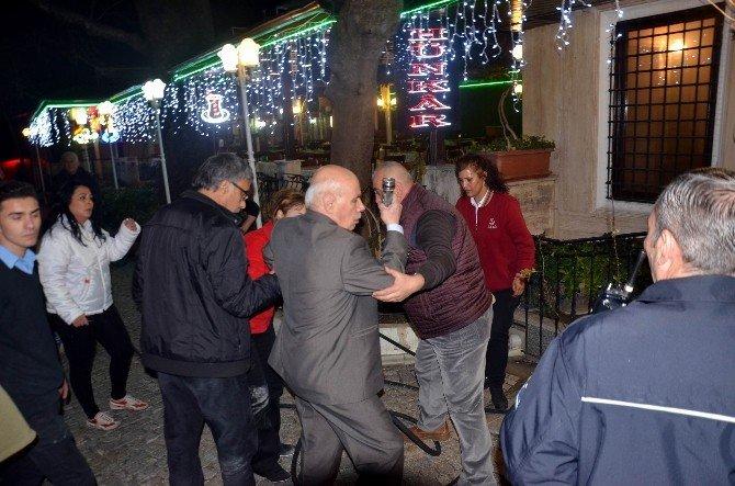 Dükkanını Kurtaran İtfaiye Ve Polislere Çay İkram Etti