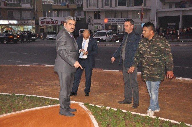 Nazilli'de Dört Yol Kavşağı Yenileniyor