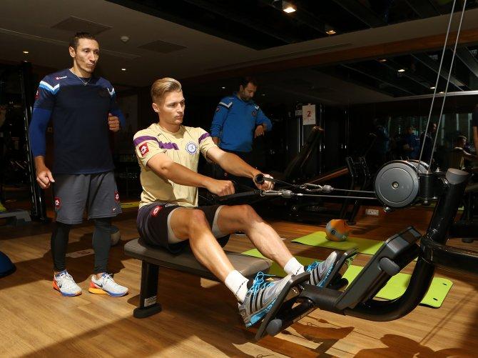 Osmanlıspor, fitness salonunda kuvvet çalıştı