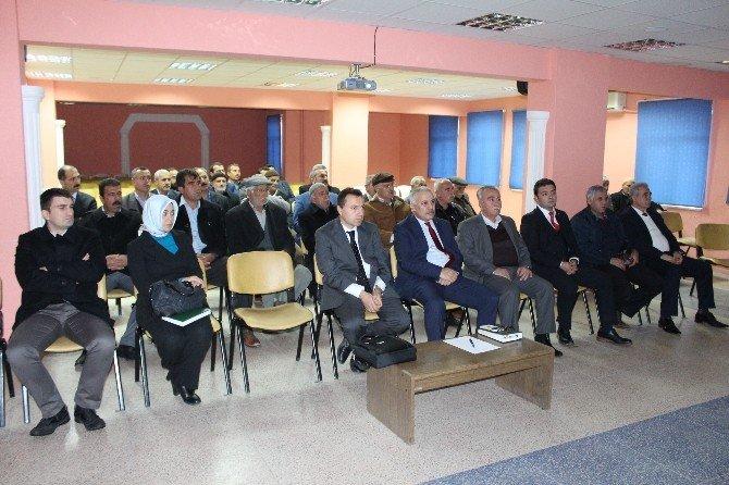 Samsat'ta İlçesinde Sulu Tarım Toplantısı Yapıldı