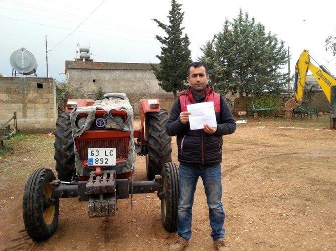 Şanlıurfa'daki Traktöre İstanbul'dan Hgs Cezası