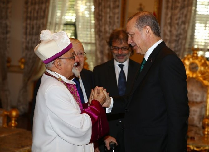 Cumhurbaşkanı Erdoğan, Türkiye Musevi Cemaati temsilcilerini kabul etti