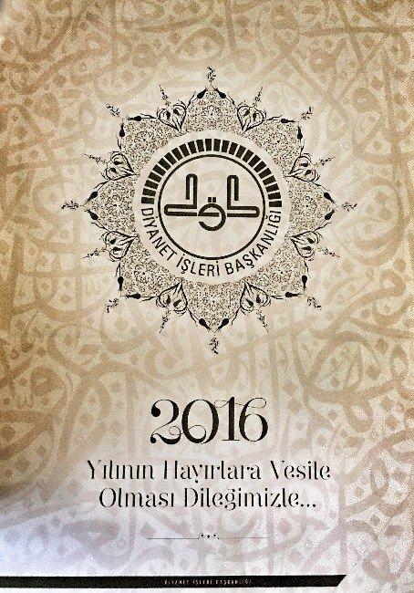 Diyanet'ten 2016'ya Özel Hatlı Tezhipli Takvim