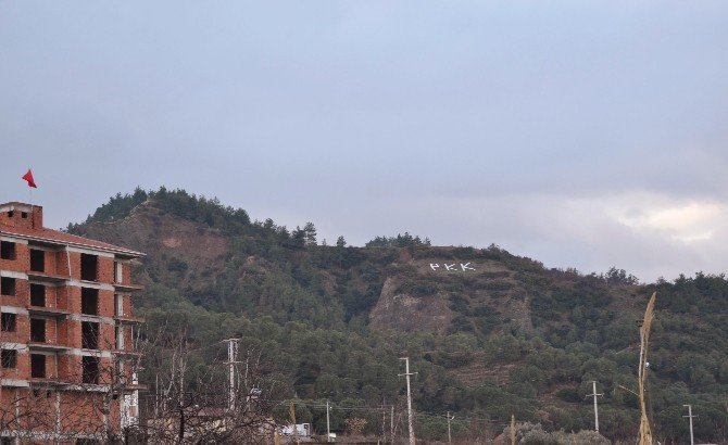 Salihli'de PKK Yandaşlarından Çirkin Tahrik