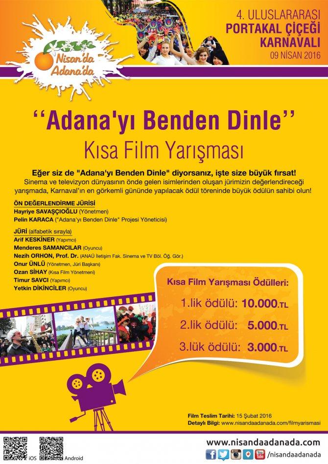 Adana, kısa filmlerle tanıtılacak