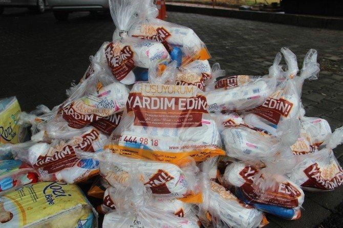 Şanlıurfa'da Toplanan Yardımlar Terör Mağdurlarına Gönderildi