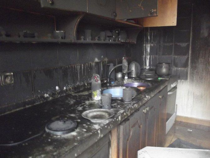 Sobanın üzerinde unutulan jel bir evi kül etti
