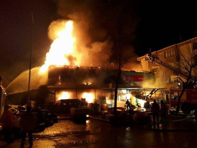 Erbaa'da Korkutan Yangın