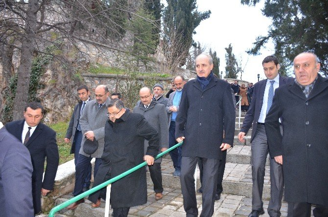 Başbakan Yardımcısı Numan Kurtulmuş Bilecik'te Şeyh Edebali Türbesini Ziyaret Etti