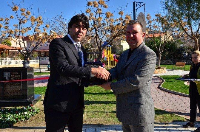 Foça'da Ercan Küçükkaya Parkı Açıldı