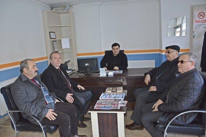 Başkan Şahiner Gazeteleri Ziyaret Etti