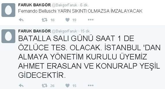 Bursaspor'un Efsanesi, Pazartesi Günü Geliyor