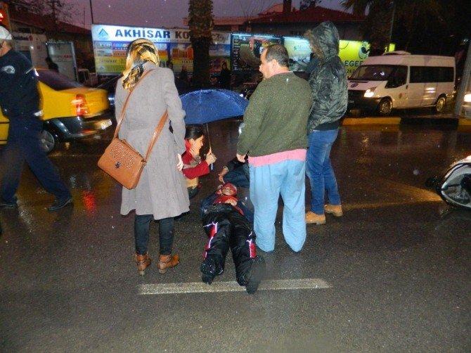 112 Görevlisi, Üşümemesi İçin Yaralı Kadının Üzerine Ceketini Örttü