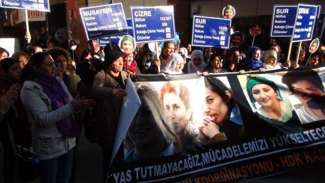 İzmir'de protesto gösterisi yapan HDP'liler gözaltına alındı
