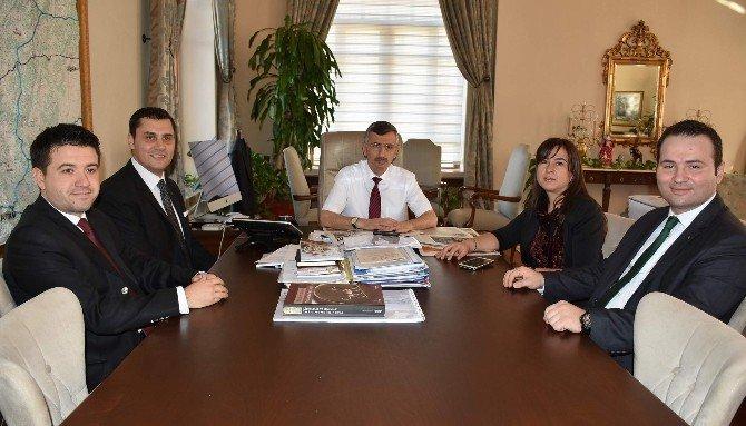 Manisa Mimarlar Odası Yeni Yönetiminden Vali Bektaş'a Ziyaret