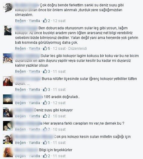 Bursa'da Çeşmelerden Gelen Koku Vatandaşı Tedirgin Etti