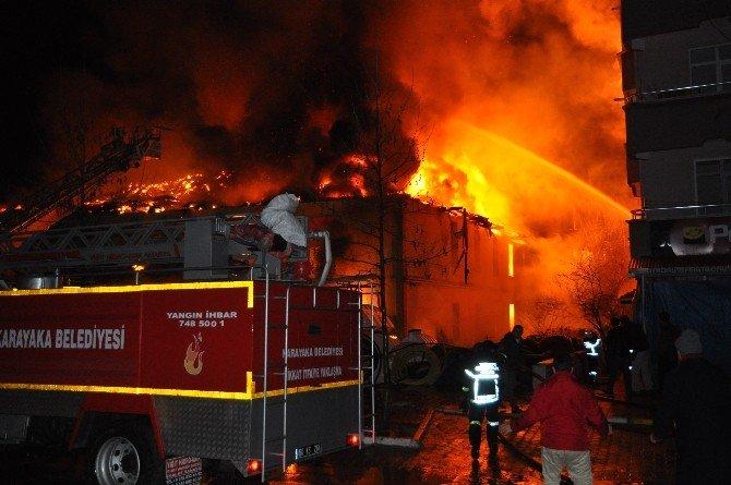 Erbaa'daki Yangın Maddi Hasarla Atlatıldı