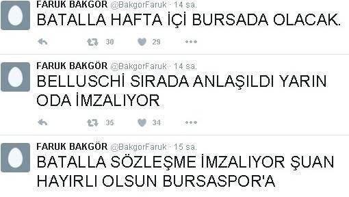 Bursaspor, Batalla Ve Belluschi İle Anlaştı