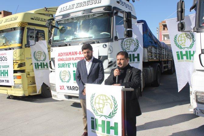 Kahta'dan Suriye'ye 4 TIR dolusu un yardımı