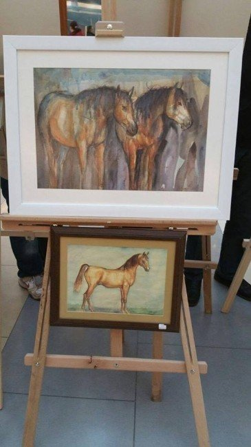Malatya Park'ta Sulu Boya Resim Sergisi Açıldı
