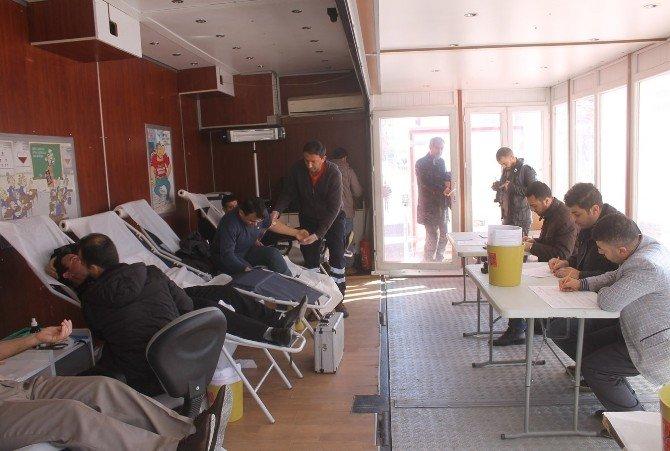 Mardinli Gazeteciler Kan Bağışında Bulundu