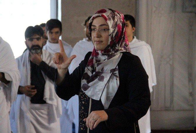 İşitme Engellilere İşaret Dili İle Hac Ve Umre Provası Yaptırıldı