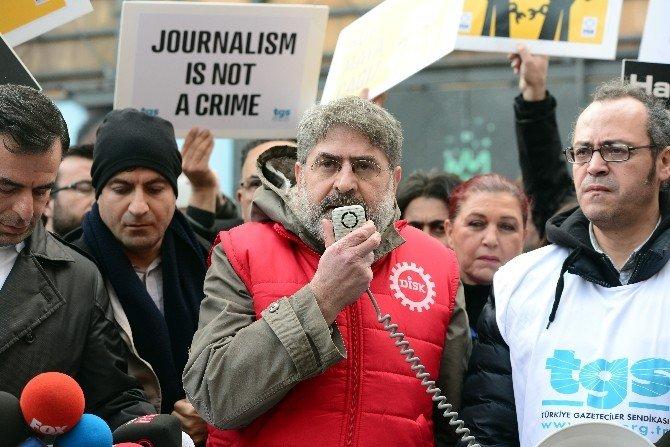 """Gazetecilerden, """"Çalışan Gazeteciler Günü"""" Eylemi"""