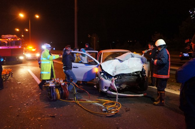 TEM'de kaza: 4 yaralı