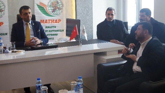 Veli Ağbaba Mathap'ı Ziyaret Etti