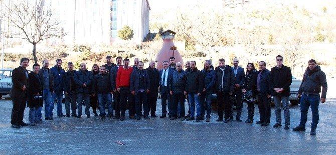 Yeni Çeltek Kömür İşletmeleri Genel Müdürü Coşkun Gazetecilerle Bir Araya Geldi
