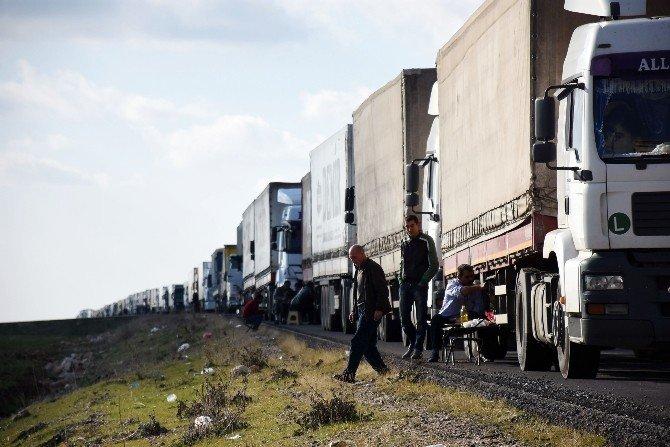 Nusaybin'de Tır Kuyruğu 30 Kilometreye Ulaştı