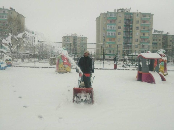 Bünyan Belediyesi Karla Mücadele Ekibi Her An Göreve Hazır