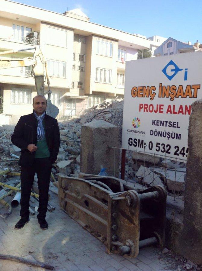Kayseri'nin 40 yıllık semtinde kentsel dönüşüm başladı